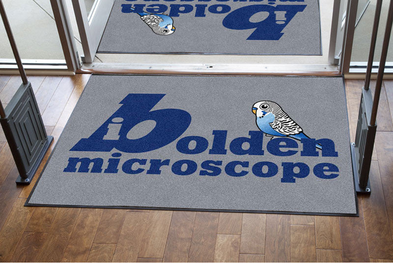 bolden welcome 4 X 6 Rubber Backed Carpeted HD - The Personalized Doormats Company