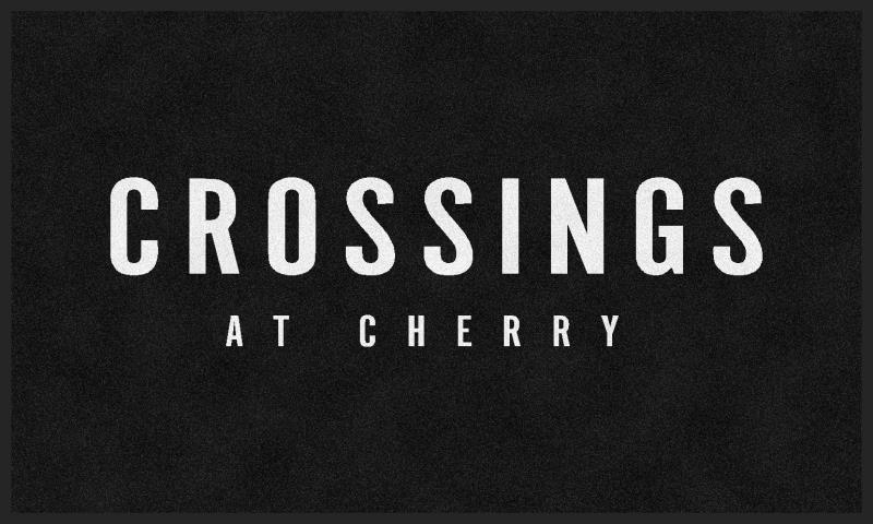 Crossings at Cherry 3 X 5 Flocked Olefin 1 Color - The Personalized Doormats Company