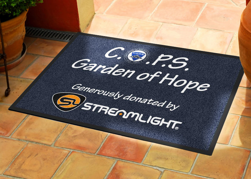 C.O.P.S. Garden Rug 2 X 3 Rubber Backed Carpeted HD - The Personalized Doormats Company
