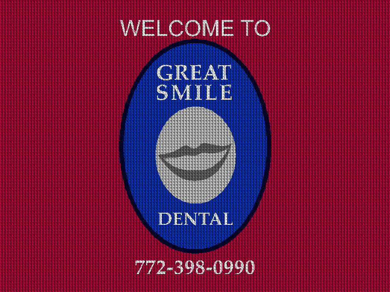 Great Smile Dental 3 X 4 Waterhog Impressions - The Personalized Doormats Company