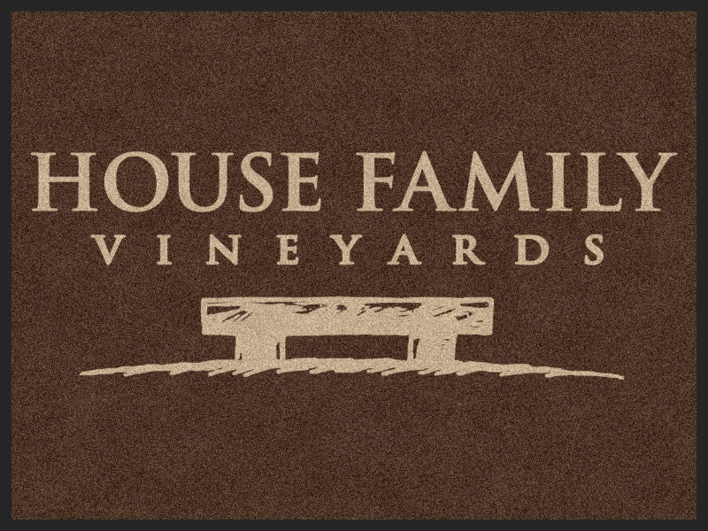 House Family 3 X 4 Rubber Backed Carpeted HD - The Personalized Doormats Company