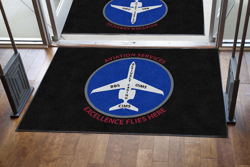 Exxon Mobil 4 x 6 Rubber Backed Carpeted HD - The Personalized Doormats Company