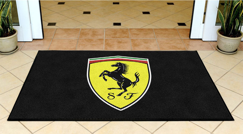 FerrariLg 3 X 5 Rubber Backed Carpeted HD - The Personalized Doormats Company