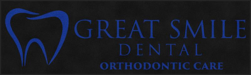 Great Smile Dental 4.5 X 15 Rubber Backed Carpeted HD - The Personalized Doormats Company