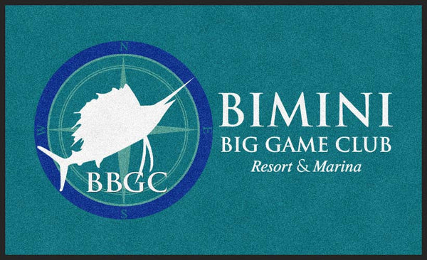 Bimini Big Game Resort & Marina 6 x 10 Rubber Backed Carpeted HD - The Personalized Doormats Company