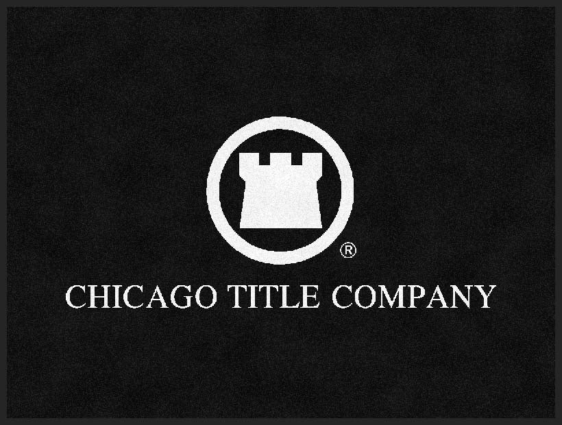 Chicago Title 3 x 4 Rubber Backed Carpeted HD - The Personalized Doormats Company