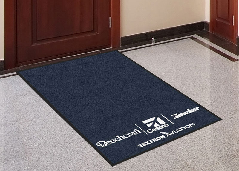Exhibitus, Inc. 2.5 X 4 Rubber Backed Carpeted HD - The Personalized Doormats Company