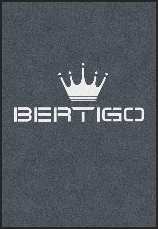 Bertigo 4.42 X 6.42 Rubber Backed Carpeted HD - The Personalized Doormats Company