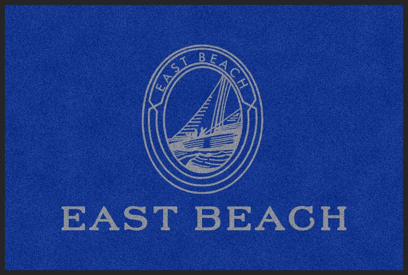 East Beach Company 4 X 6 Rubber Backed Carpeted HD - The Personalized Doormats Company