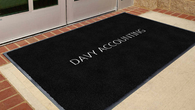 DAVY ACCOUNTING 3 X 5 Flocked Olefin 1 Color - The Personalized Doormats Company