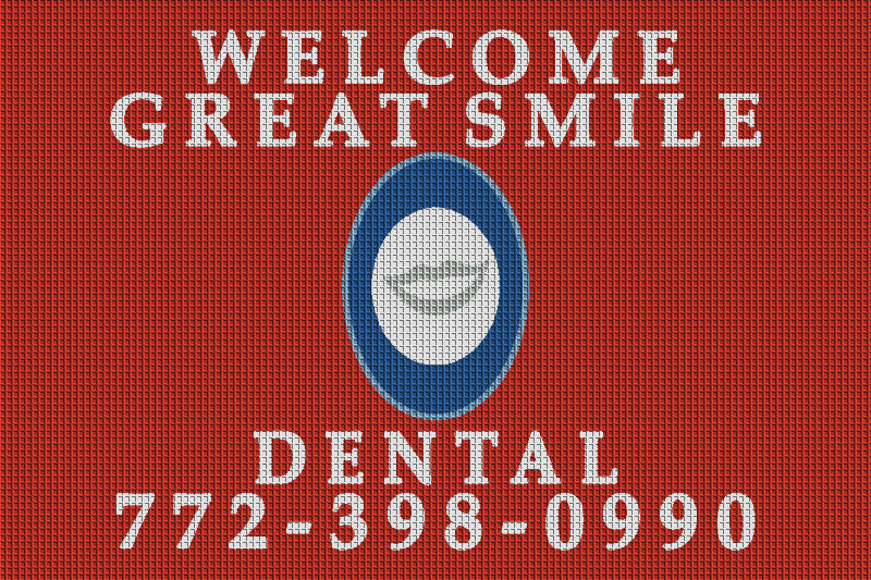 Great Smile Dental 4 x 6 Waterhog Inlay - The Personalized Doormats Company