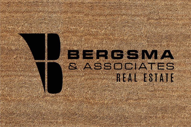 Bergsma Real Estate 2 X 3 Flocked Classic Coir (PDC) - The Personalized Doormats Company
