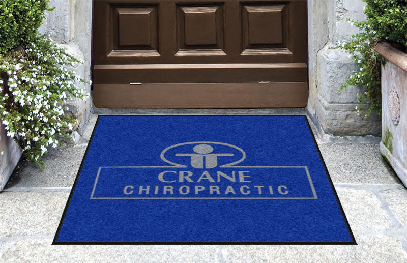Crane Chiropractic 3 X 3 Rubber Backed Carpeted HD - The Personalized Doormats Company