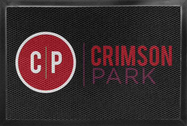 Crimson Park 4 X 6 Luxury Berber Inlay - The Personalized Doormats Company