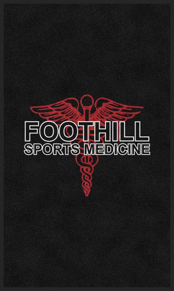 Foothill College 3 X 5 Rubber Backed Carpeted HD - The Personalized Doormats Company