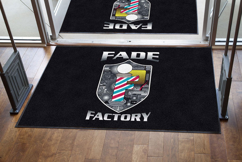 Fade factory 4 X 6 Rubber Backed Carpeted HD - The Personalized Doormats Company