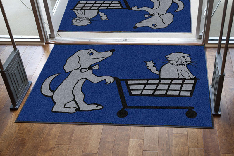 Alabama Pet Foods 4 X 6 Rubber Backed Carpeted HD - The Personalized Doormats Company