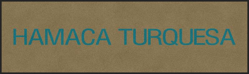 Hamaca Turquesa 3 X 10 Rubber Backed Carpeted HD - The Personalized Doormats Company