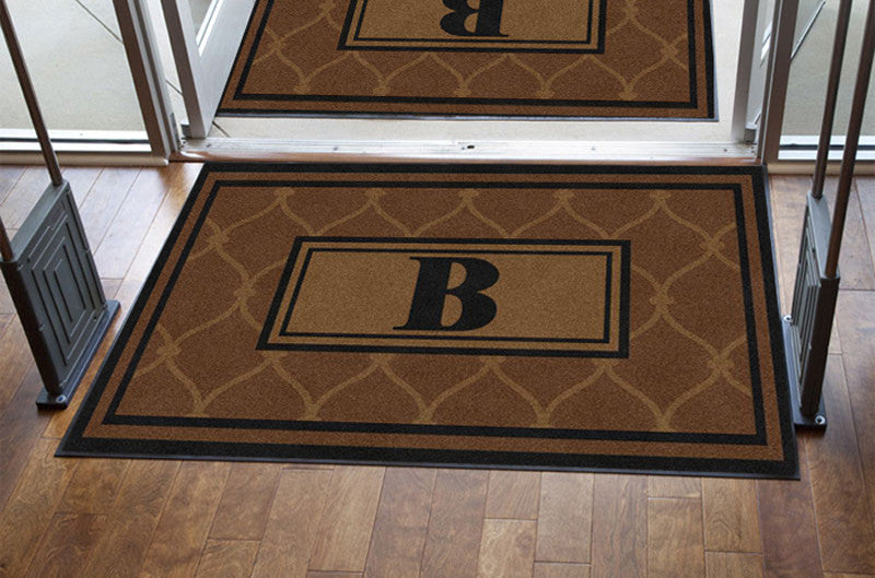 Chain Link Mat 4 X 6 Rubber Backed Carpeted HD - The Personalized Doormats Company