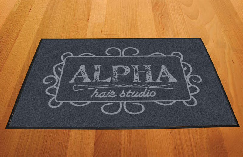 Alpha 2 X 3 Rubber Backed Carpeted HD - The Personalized Doormats Company