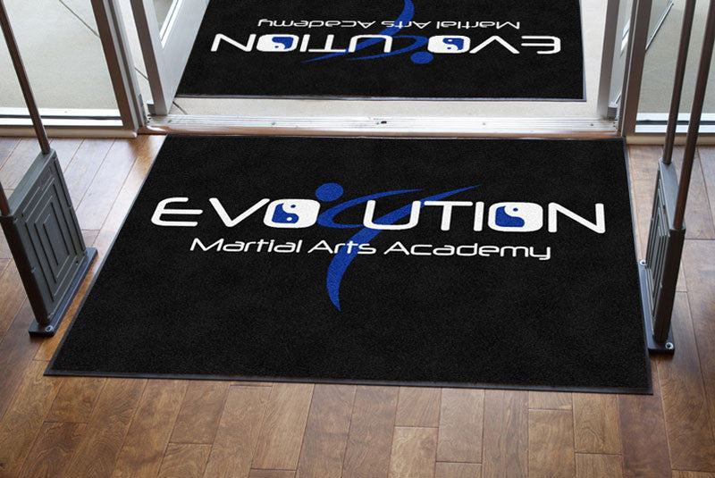 Evolution MMA 4 x 6 Rubber Backed Carpeted HD - The Personalized Doormats Company