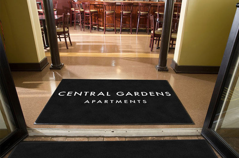Central Gardens 2 4 X 6 Rubber Backed Carpeted HD - The Personalized Doormats Company