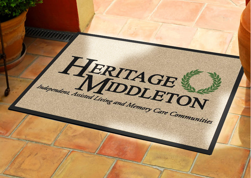 24 X 36 Heritage Middleton Carpeted HD 2 X 3 Rubber Backed Carpeted HD - The Personalized Doormats Company