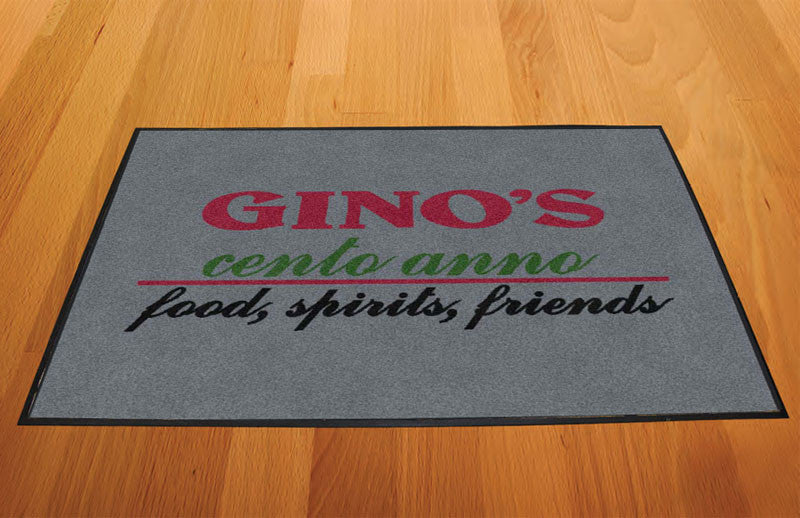 ginos 2 X 3 Rubber Backed Carpeted HD - The Personalized Doormats Company