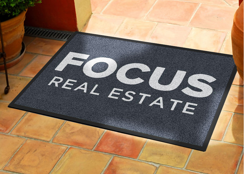 Focus Entry mat 2 x 3 Rubber Backed Carpeted HD - The Personalized Doormats Company