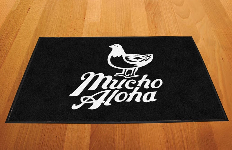Aloha 2 X 3 Rubber Backed Carpeted HD - The Personalized Doormats Company