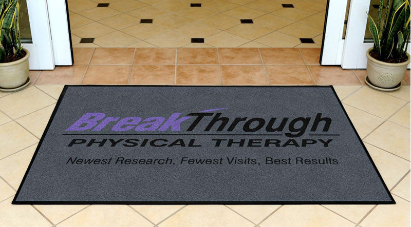 BreakThrough 3 X 5 Rubber Backed Carpeted HD - The Personalized Doormats Company