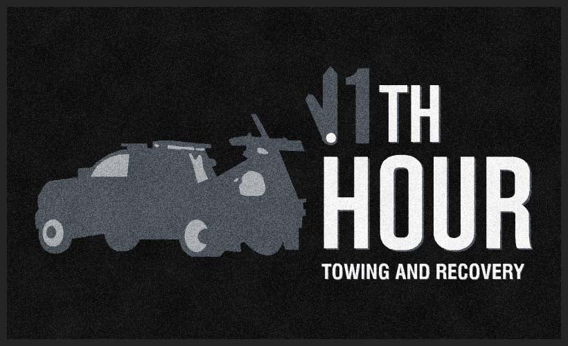 11th Hour Towing And Recovery 3 X 5 Rubber Backed Carpeted HD - The Personalized Doormats Company