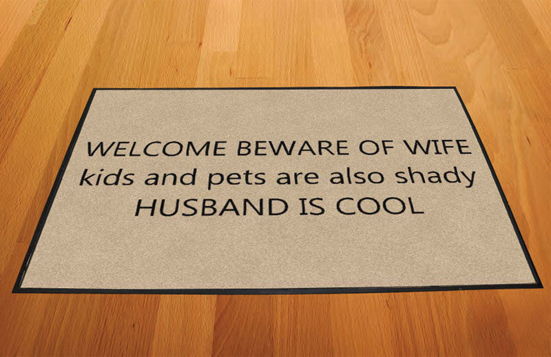 Family Door Mat 2 X 3 Rubber Backed Carpeted HD - The Personalized Doormats Company