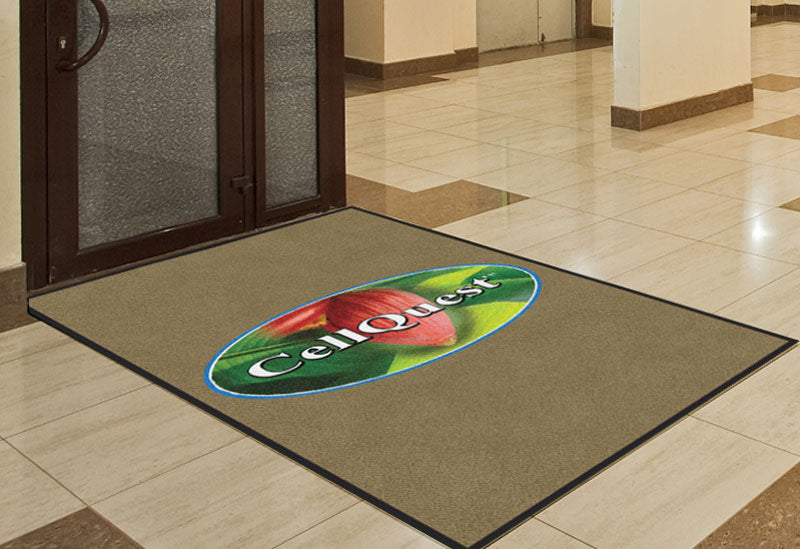 Cellquest 4 X 6 Rubber Backed Carpeted HD - The Personalized Doormats Company