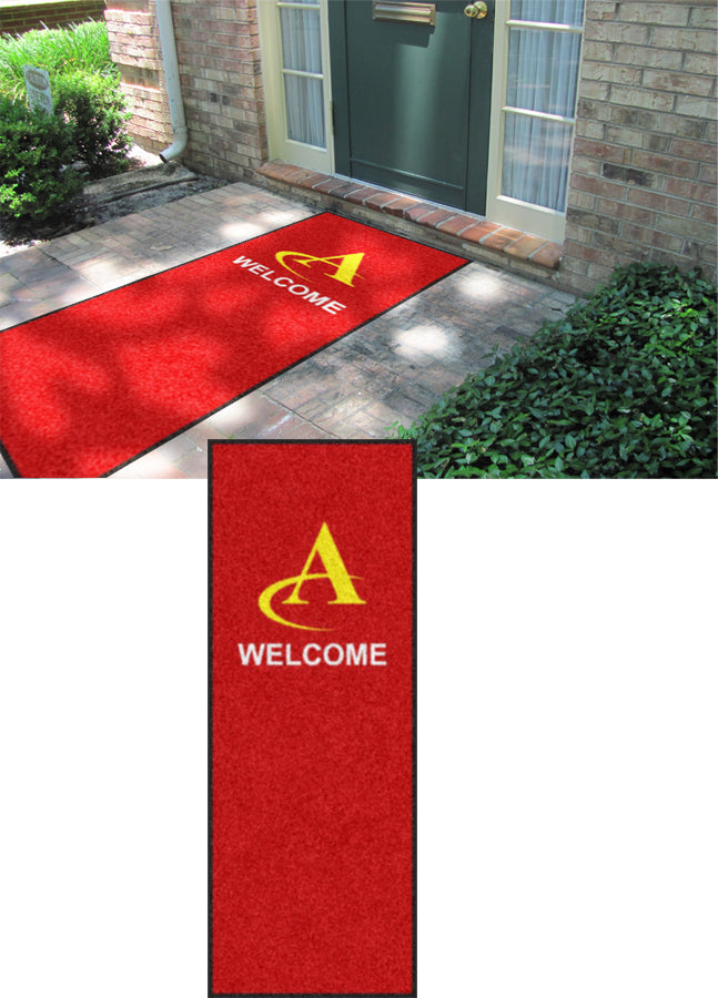 ATC CUstom Rug2017-1 3 X 8 Rubber Backed Carpeted - The Personalized Doormats Company