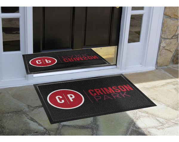 Crimson Park 2 x 3 Luxury Berber Inlay - The Personalized Doormats Company