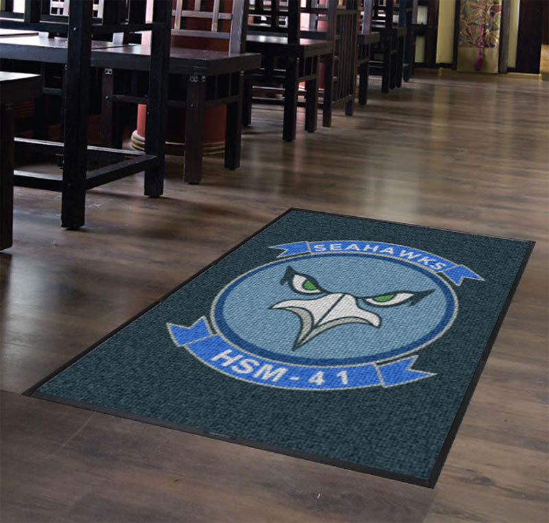 HSM-41seahawks 4 X 6 Waterhog Inlay - The Personalized Doormats Company