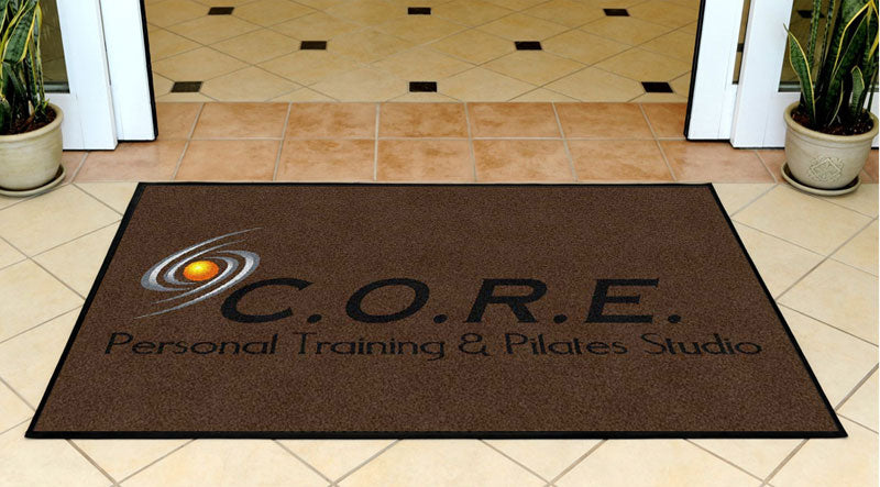 CORE Personal Training & Pilates 3 X 5 Rubber Backed Carpeted HD - The Personalized Doormats Company