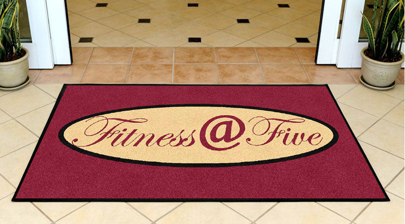Fitness @ Five 3 X 5 Rubber Backed Carpeted HD - The Personalized Doormats Company