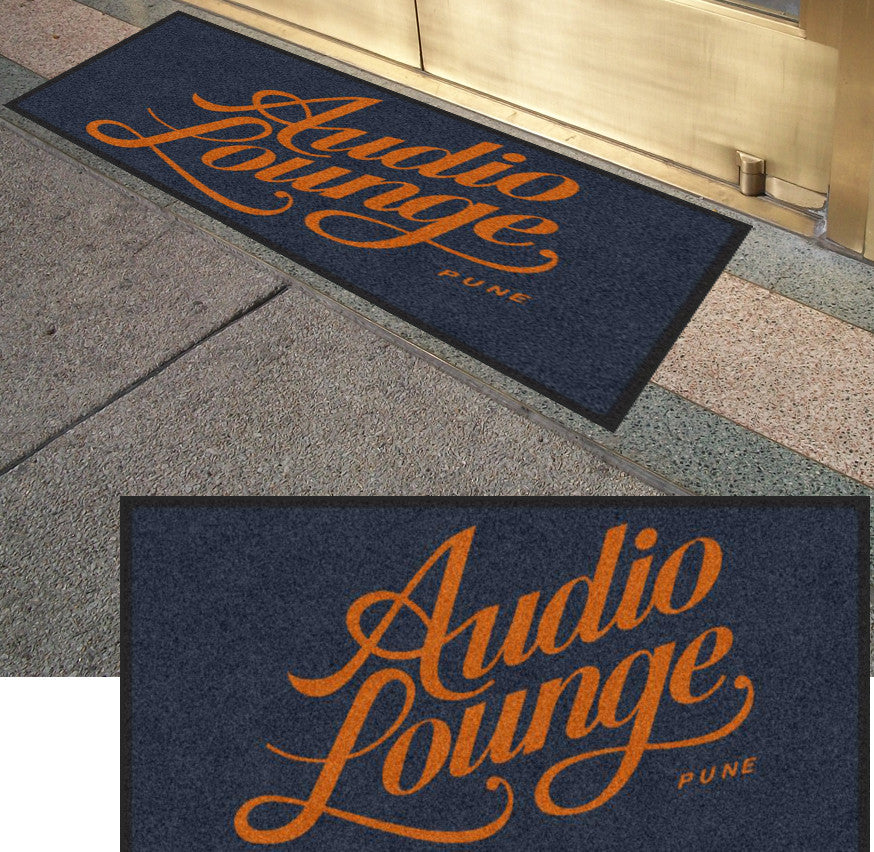 audio lounge 2 X 4 foot Rubber Backed Carpeted HD - The Personalized Doormats Company