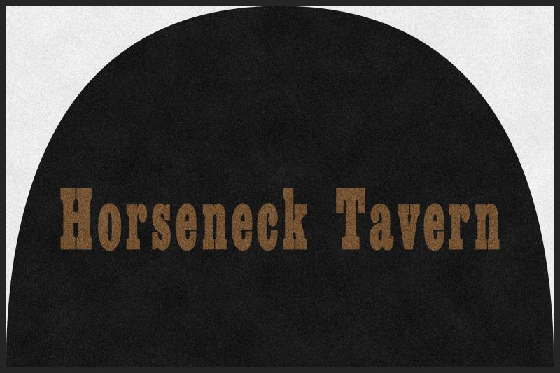Horseneck Tavern 4 X 6 Rubber Backed Carpeted HD Half Round - The Personalized Doormats Company
