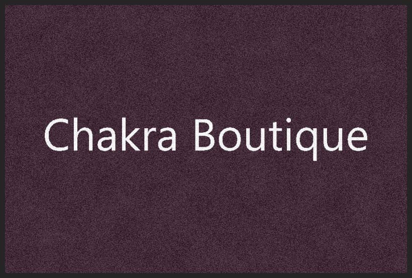 Chakra boutique 2 X 3 Rubber Backed Carpeted HD - The Personalized Doormats Company