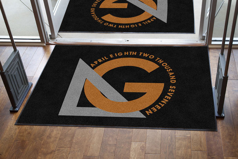 GINDEA 4 X 6 Rubber Backed Carpeted - The Personalized Doormats Company