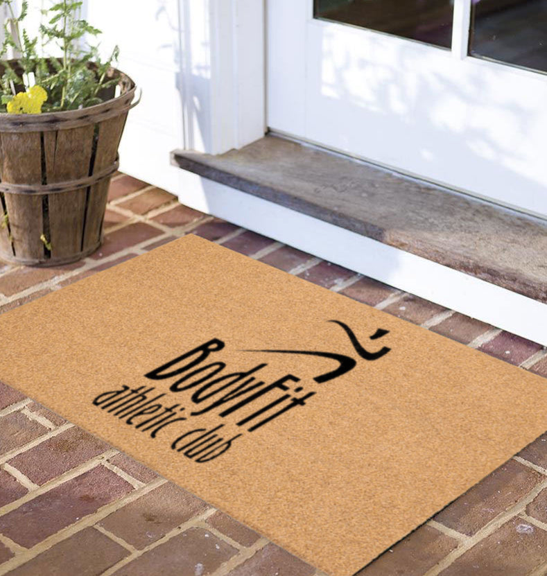 Body Fit Athletic Club 18 X 30 Flocked Duracoir (PDC) - The Personalized Doormats Company