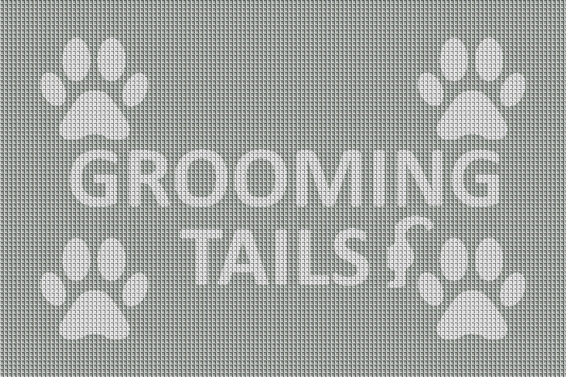 Grooming Tails 2 x 3 Waterhog Inlay - The Personalized Doormats Company