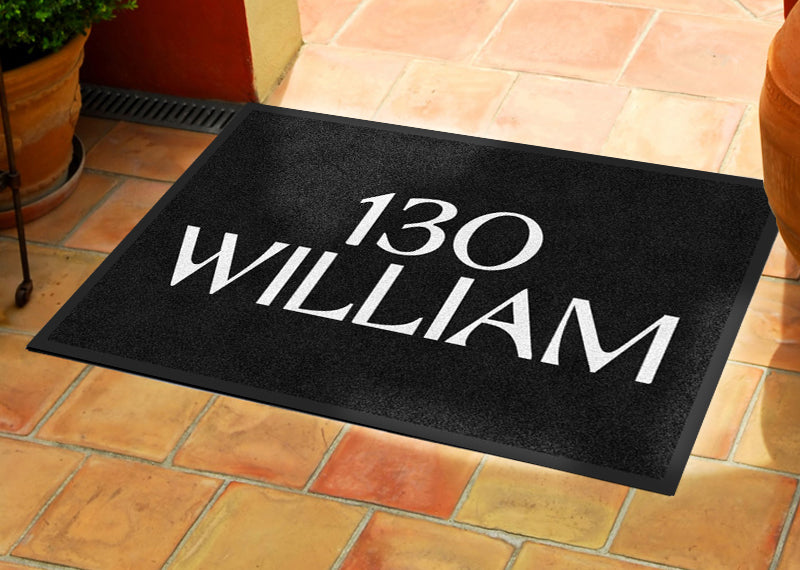 130 William 2 X 3 Rubber Backed Carpeted HD - The Personalized Doormats Company