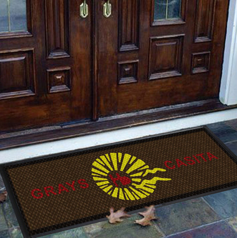 Grays Casita Hermosa 1.21 X 3.29 Luxury Berber Inlay - The Personalized Doormats Company