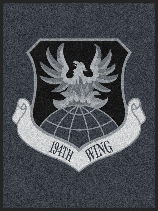 194th Wing 3 x 4 Custom Plush 30 HD - The Personalized Doormats Company