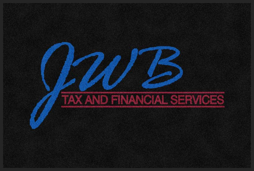 JWB Tax and Financial Services 2 x 3 Custom Plush 30 HD - The Personalized Doormats Company
