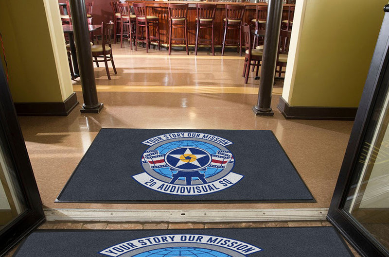 2d Audiovisual Squadron 4 X 6 Rubber Backed Carpeted HD - The Personalized Doormats Company